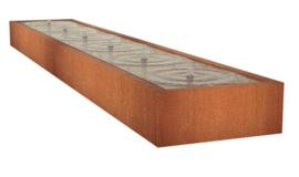 Cortenstaal Watertafel 600x100x40cm