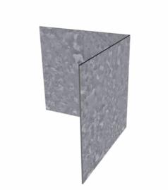 Hoekstuk verzinkt staal recht 30x30x0,2x10cm