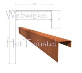 BetonTop Cortenstaal profiel 230x10,4x15cm