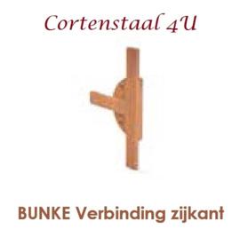 Cortenstaal houtopslag Bunke T verbinding