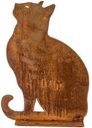 Zittende kat Iron ecoroest  40x15x35 cm