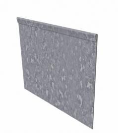 Kantopsluiting Verzinkt staal geplet 230x0,2x10cm