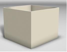 Plantenbak Polymeer beton 60 x 60 x 60 cm kleur room RAL-9001 afhaalprijs