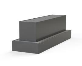 Aluminium ST waterblok met 3 fonteinen  3400x1100xH1080 mm. Gratis bezorgd.