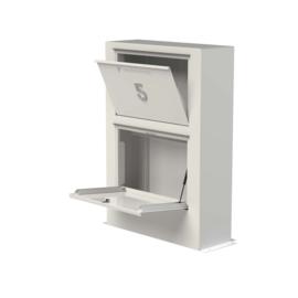 Aluminium ST brievenbus  Paca   870x300xH1250mm.  Gratis bezorgd.