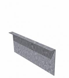 1 st. Kantopsluiting Verzinkt staal 3 cm gezet 2300 x 2 x 290 mm. afhaalprijs