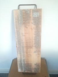 Plank met ijzeren handvaten