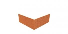 1 st. Hoekstuk  recht 90° ST Cortenstaal 300x300x100 mm. en 2 mm.dik