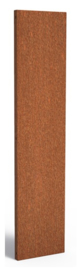 Cortenstaal schuttingdeel / paneel 40x5x180cm