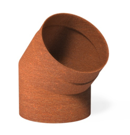 Cortenstaal Kachelpijp 45° Ø20,4x20cm