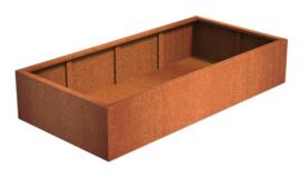Cortenstaal ST plantenbak zonder bodem L2000 x B1000 x H600 mm.
