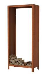 Cortenstaal houtopslag 80x40x180cm