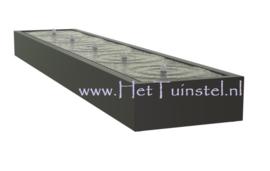 Aluminium Watertafel 500x100x40cm
