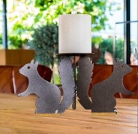 Kandelaar 3 eekhoorns