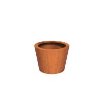 Cortenstaal plantenbak rond Tapse cilinder 80x60cm
