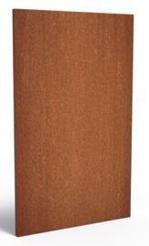 Cortenstaal schuttingdeel / paneel 110x5x180cm