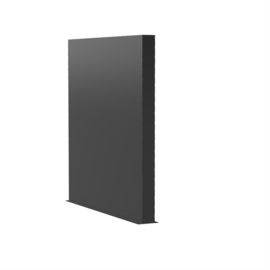 Aluminium wand 200x15x200cm