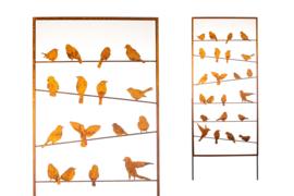 Tuinscherm Iron ecoroest vogels open 190x90 cm,   Afhaalprijs