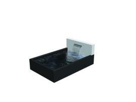 Aluminium  ST waterwand 2000 x 250 x 600 mm. Gratis bezorgd.