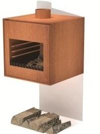 Cortenstaal tuinhaard Thor 55x50x55cm