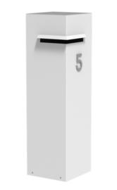 Aluminium brievenbus 35x35x120cm