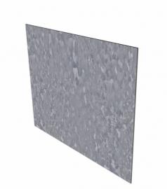 1 st.Kantopsluiting Borderrand ST Verzinkt staal recht 2300 x 2 x 100 mm.  afhaalprijs