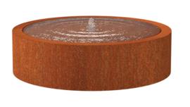Cortenstaal Watertafel Rond 145x40cm