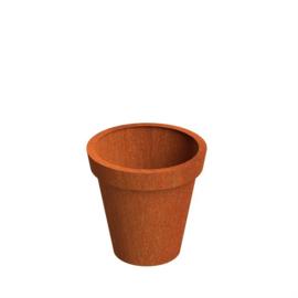 Cortenstaal plantenbak model Bloempot