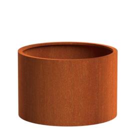 Cortenstaal MW plantenbak rond cilinder 1000 x H 1000mm.
