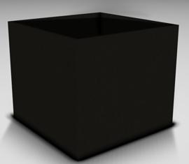 Plantenbak Polymeer beton 60 x 60 x 60 cm kleur  zwart afhaalprijs