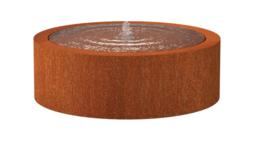 Cortenstaal Watertafel Rond 120x40cm