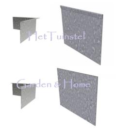 Kantopsluiting Verzinkt staal