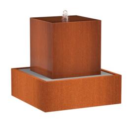 Cortenstaal Waterblok 70x70x70cm