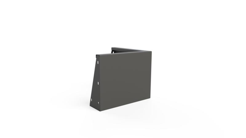 Aluminium ST keerwand buitenhoek L500xB500xH200mm. Gratis bezorgd.