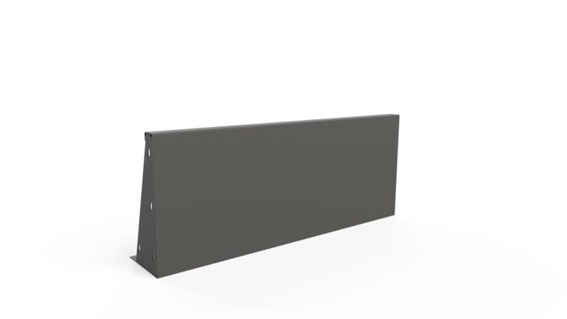 Aluminium ST keerwand L1500xB50xD4xH400mm.