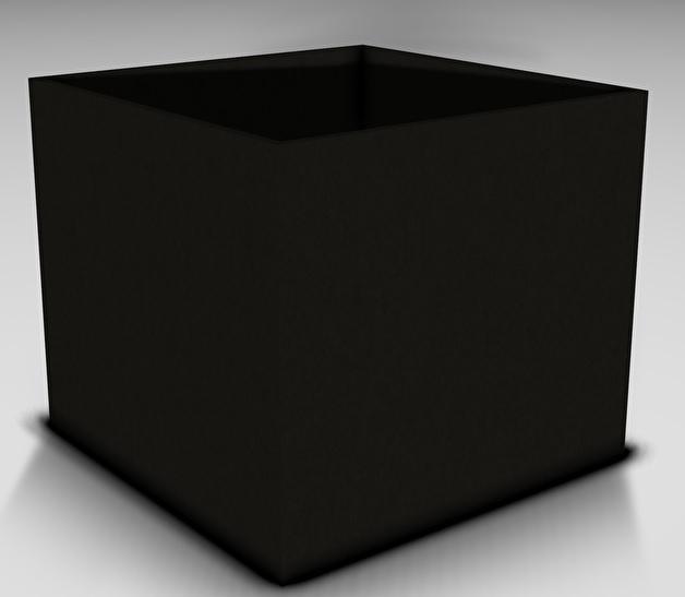 Plantenbak Polymeer beton 100 x 100 x H 80 cm kleur  zwart afhaalprijs