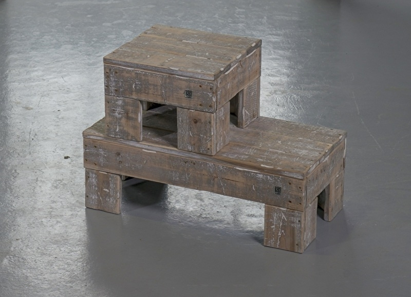 Set bijzettafels vierkant en langwerpig