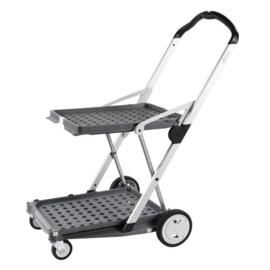 399053 | CLAX inklapbare vouwkrattrolley zonder vouwkrat(ten), kleur grijs-wit, draagvermogen 60 kg, afm. 890x550x1025 mm (lxbxh), gewicht 6,7 kg