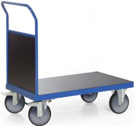 103-1012 | TAUROFLEX platformwagen, draagvermogen 500 kg, afm. 850×500 mm, incl. houten kopwand