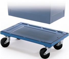 615510 | BITO transportroller voor combikrat 60x41 cm (lxb), draagvermogen 250 kg, duifblauw