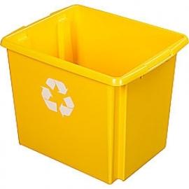 35800646 | SUNWARE Nesta Box Eco, afm. 455x360x360 mm (lxbxh), inhoud 45 ltr, kunststof, kleur geel