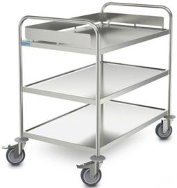 0127772 | HUPFER afruimwagen ARW 10x6/3, 3 etages, afm. laadvlak 1000x600 mm (bxd), draagvermogen 90 kg, gewicht 25 kg