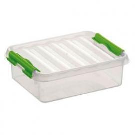 77900661 | SUNWARE Q-Line opbergbox 1,0 liter, afm. 20x15x6 cm (bxdxh), transparant/groen, stapelbaar