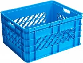59700311 | SUNWARE Square multifunctionele open boodschappen/opbergkrat, afm. 50x40x26 cm (lxbxh), inhoud 52 liter, stapelbaar, kleur blauw, gewicht 1,7 kg