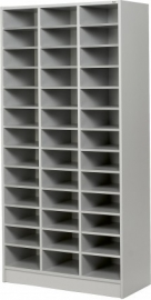 E31G12 | PRIMA OFFICE vakkenkast Classic IP-Maxi/925, 3 kolommen 39 vakken, vakhoogte 115 mm, afm. 915x400x1800 mm (bxdxh), decor grijslaminaat