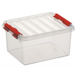 78000605 | SUNWARE Q-Line opbergbox 2,0 liter, transparant/rood
