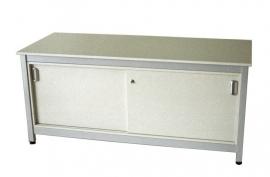 SDK0624 | PROMAIL werktafel stahoogte met schuifdeuronderkast, afm. 624x750x920 mm (bxdxh), stelvoetjes