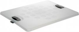 59500609 | SUNWARE Square afsluitbaar deksel voor 52 liter krat, afm. 48x38x2 cm (lxbxh), kleur transparant, gewicht 0,4 kg