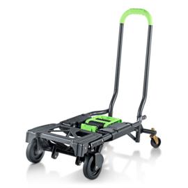 213137 | COSCO 2-in-1 inklapbare transport-steekwagen, draagvermogen 136 kg, afm. 820x372x105 mm (lxbxh/ingeklapt), eigen gewicht 6,8 kg