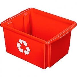39001249 | SUNWARE Nesta Box Eco, afm. 455x360x240 mm (lxbxh), inhoud 32 ltr, kunststof, kleur rood